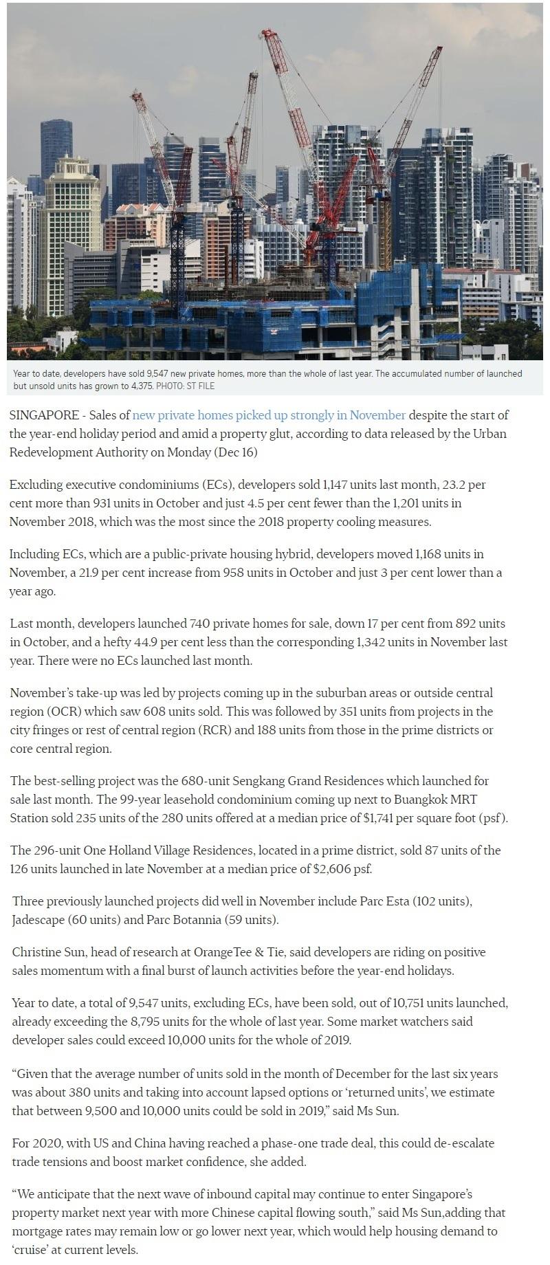 Ki Residences - New private home sales rebound in Nov part 1