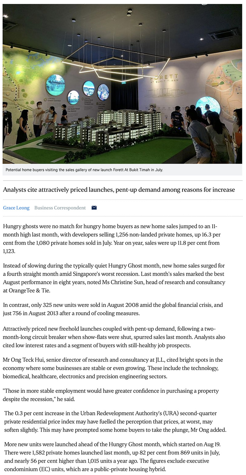 Ki Residences - New home sales surge to 11-month high in August 1